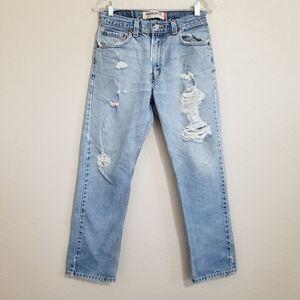 Levi's 505 Regular Fit Distressed Jeans 30x30